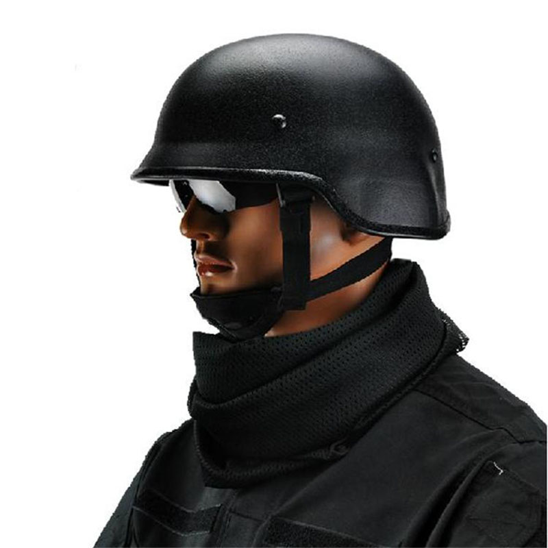 US PASGT M88 Steel Helmet/Military Helmet/Tactical Helmet/ Security CS Outdoor War Game Motocycle Protection Tactical Helmet tactical wargame motorcycling helmet w eye protection glasses black size l7