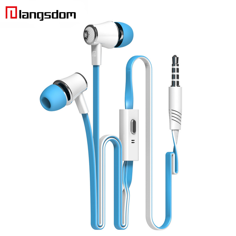 Langsdom JM21 Earphone Super Bass Stereo HIFI Earbuds With Microphone 3.5mm Noodles Wired In-ear Earphone For Samsung iPhone HTC цена и фото
