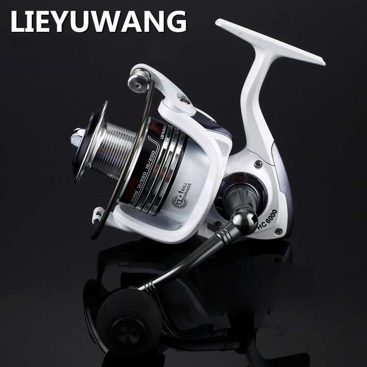 Spinning fishing reel white and black 5 2 1 13 1 ball for 13 fishing spinning reels