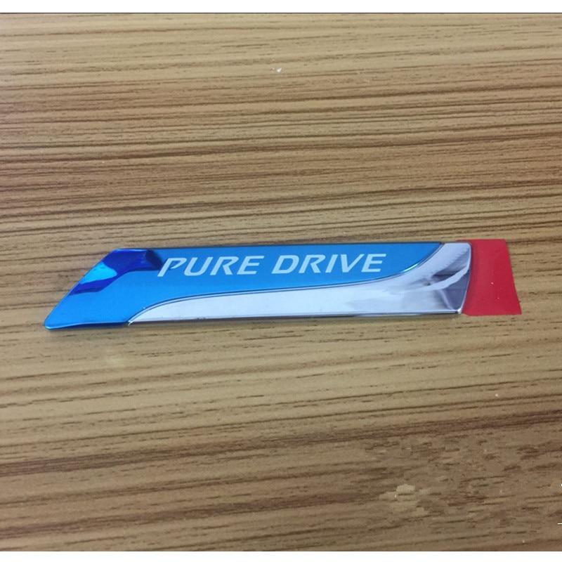 1pcs PURE DRIVE XTRONIC CVT 3D Car emblem Badge for Nissan Qashqai X-trail Juke Tenna Tiida Sunny Note(China)