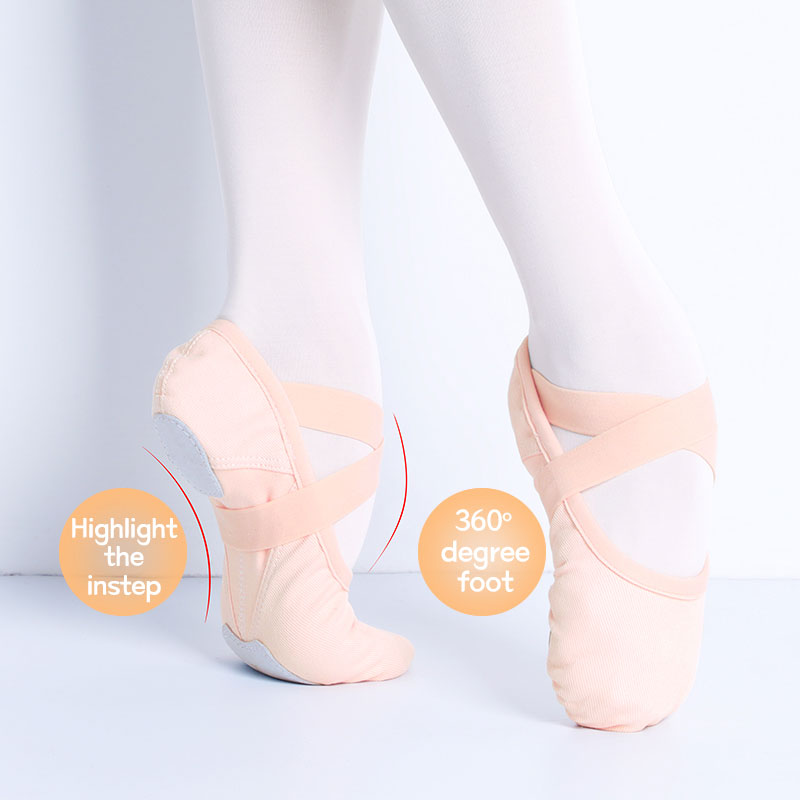 Ballet Dance Shoes Sneakers For Girls Ballerina Flats Kids Ballet Slippers Girl Soft Practice Shoes Single Shoelace