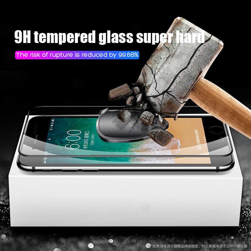 15D ochronne szkło hartowane na iPhone 6 6s 7 8 Plus X 10 szklany ochraniacz ekranu miękka krawędzie zakrzywione dla iPhone XR XS MAX