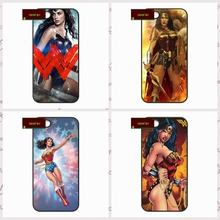 Wonder Woman Super Hero Обложка case для iphone 4 4s 5 5s 5c 6 6 s плюс samsung galaxy S3 S4 mini S5 S6 Note 2 3 4 UJ0189(China)