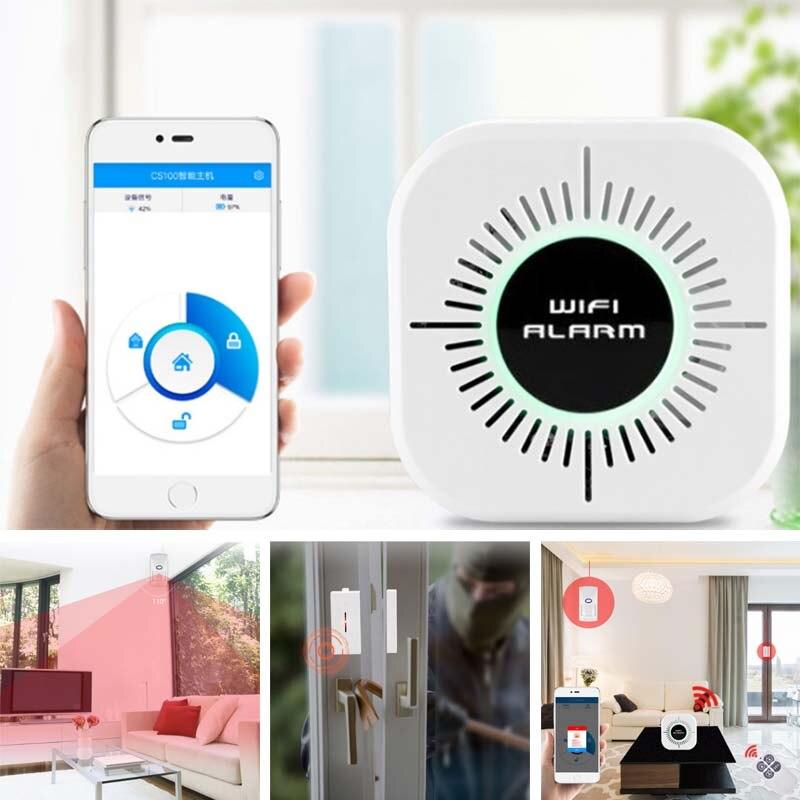 Système d'alarme de Vibration de fenêtre de porte de sécurité à la maison Anti-vol Wifi détecteur de mouvement intelligent de capteur LCC77