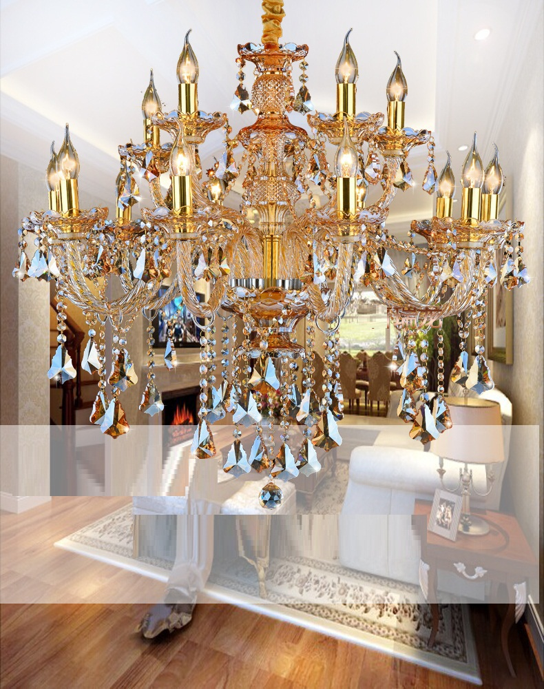 Modern crystal chandelier living room lustres de cristal modern crystal chandelier living room lustres de cristal decoration tiffany pendants and chandeliers home lighting indoor lamp in chandeliers from lights arubaitofo Images