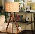 Moden Kunst Dekoration Tisch Lampe Nachttisch Lampe für Schlafzimmer Wohnzimmer Kreative Holz Stativ E27 Schreibtisch Desktop Lampe-in Tischlampen aus Licht & Beleuchtung bei