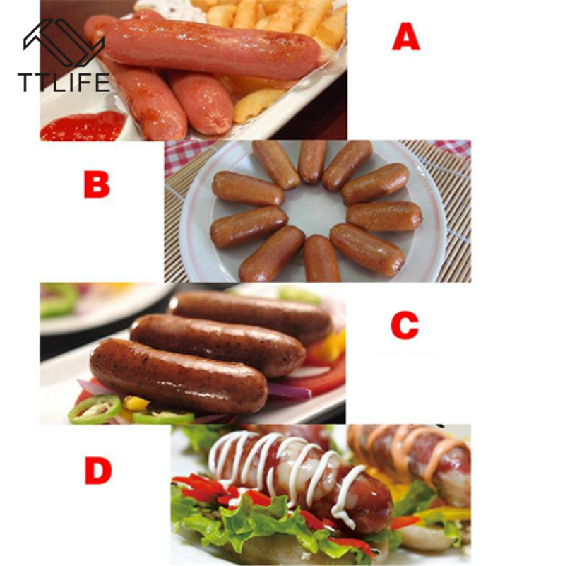 50mm Edible Sausage Packaging Tool Sausage Tube Casing for Sausage Maker TE