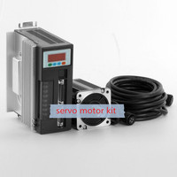servo 750w servo motor ac kit 2.4N.M 3000RPM 3 phase electric motor 90ST M02430+ Matched Servo Driver