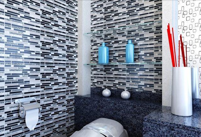 Piastrelle doccia pietra excellent piastrelle doccia - Striscia di mosaico in bagno ...
