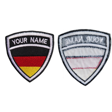 Custom Embroidery Germany Name Patch, 2 pcs Personalized Military Number Tag  Customized Logo ID For