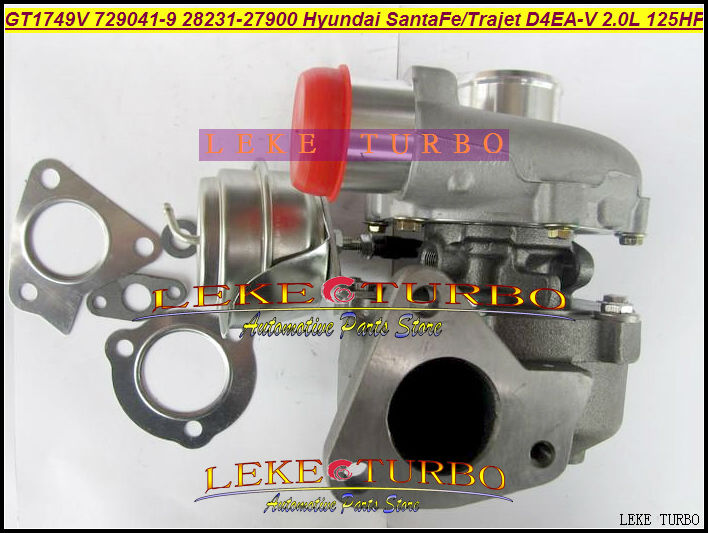 GT1749V 729041-5009S 729041-0009 729041 28231-27900 Turbo Turbocharger For HYUNDAI Santa Fe 2003-05,Trajet 2002- D4EA-V 16v 2.0L