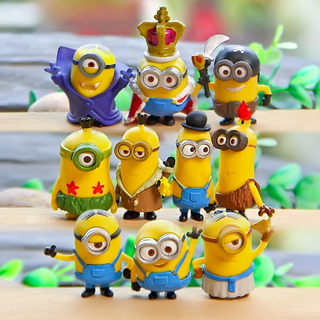 10pcs Lot Minion Miniature Figurines Toys Cute Lovely Model Kids 52cm