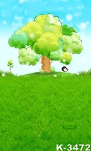 Blue Sky And Green Lawn Picture Photographic font b Photo b font Backdrops 5X7FT Painted Background
