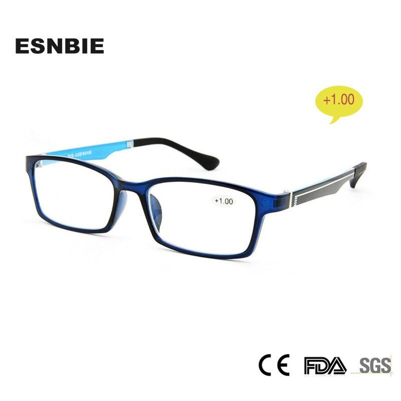 ESNBIE Óculos   Acessórios Cor Azul Grau Óculos De Leitura 1.00 Óculos Da  Moda Óculos TR90 Presbiopia Lente 89f03eb3b8