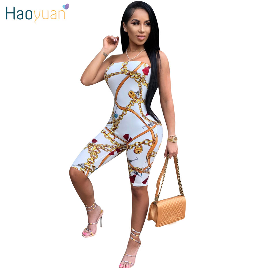 7089c4feed2c HAOYUAN Plus Size Sexy Bodysuits Summer Overalls Black White Slash Neck Off  Shoulder Rompers Womens Jumpsuit Bodycon Playsuit -in Rompers from Women s  ...