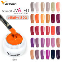 #61501 5ml 180 neon colors venalisa nail art tips design uv/led gel nail polish lacquer nail design diy painting pigment gel ink