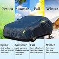 Cubierta Universal completa del coche de la nieve del polvo del hielo del sol de la sombra de la cubierta azul oscuro 9 tamaños Auto del coche al aire libre del Protector cubierta