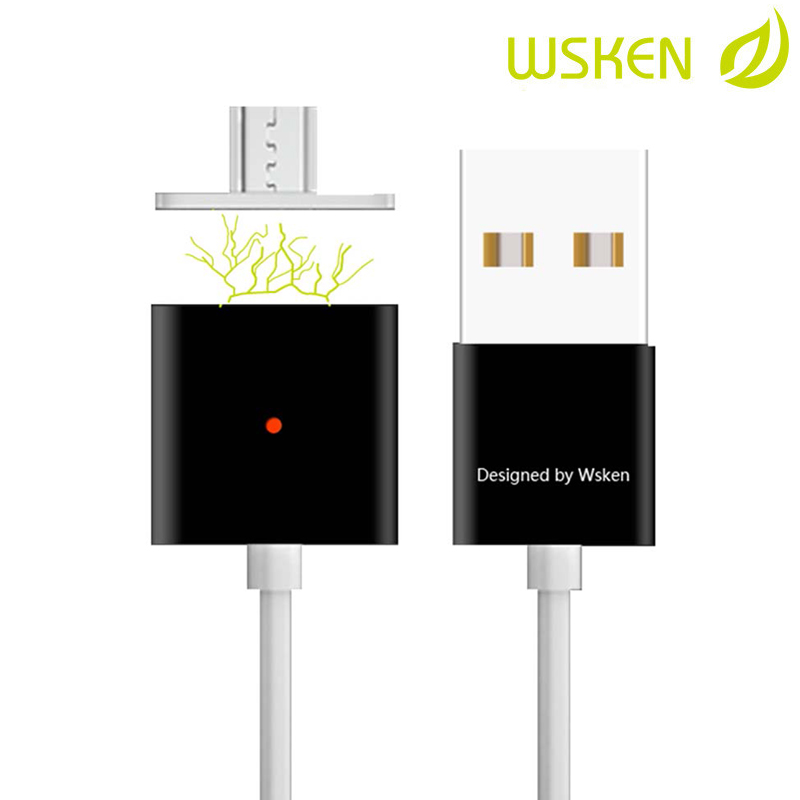 Wsken Micro USB Charging Cable Magnetic Double Alloy for Samsung Xiaomi Meizu Huawei HTC Google Blackberry