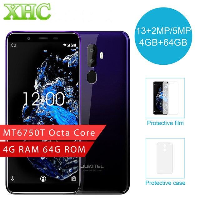 Original OUKITEL U25 Pro 4GB+64GB Fingerprint 5.5inch Smartphone Android 8.1 MTK6750T Octa Core Dual SIM LTE 4G OTG Mobile Phone