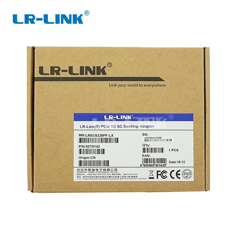 Image 4 - LR LINK 6220PF LX gigabit ethernet PCI Express адаптер для сетевой карты волоконно оптический для ПК intel 82575EB NIC-in Сетевые карты from Компьютер и офис