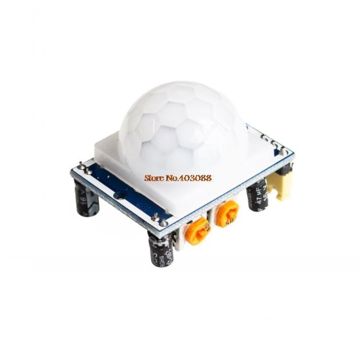 50pcs ship world Free Ship HCSR501 HC SR501 NEW Adjust Infrared IR PIR Motion Sensor Detector