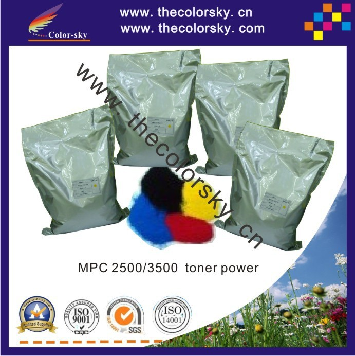 (TPRHM-C2500) premium color toner powder for Ricoh MPC2500 MPC3500 MPC 2500 toner cartridge 1kg/bag/color Free shipping fedex tph 1215 2p color toner powder for hp cp2025dn cp2025x cm2320 cm 1300mfp 1312mfp for canon lbp5000 lbp5050 1kg bag free fedex