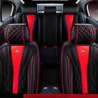 5 seats Seat Cover 6D Senior Microfiber Leather and Sponge Layer Seat Cushion Car Interior Accessories For Sedan SUV Universal