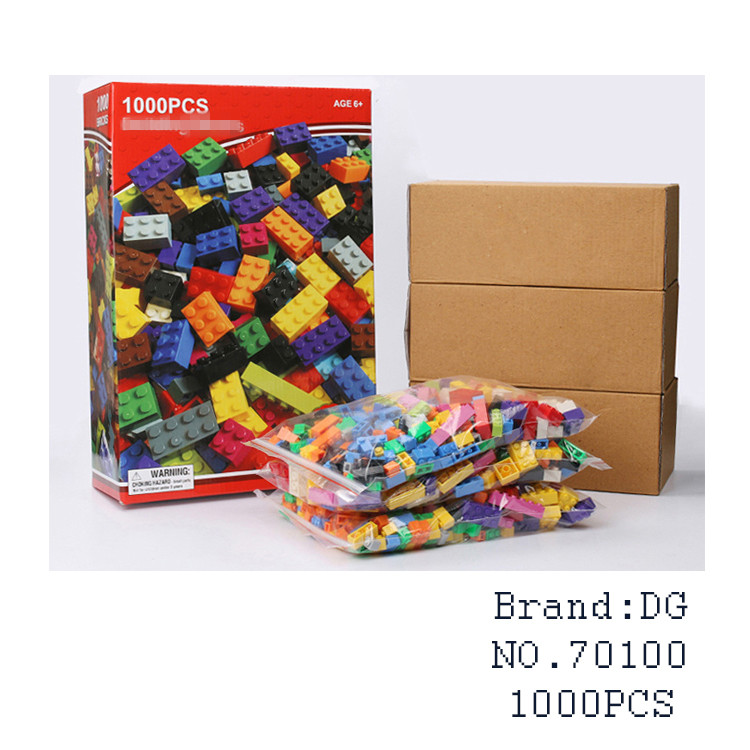 1000Pcs Classic Creative Animal DIY Learning Educational Toys for Children gifts Building kit Blocks Bricks Duplo brinquedos kid 32 pcs setcolor changed diy jigsaw toys wooden children educational toys baby play tive junior tangram learning set
