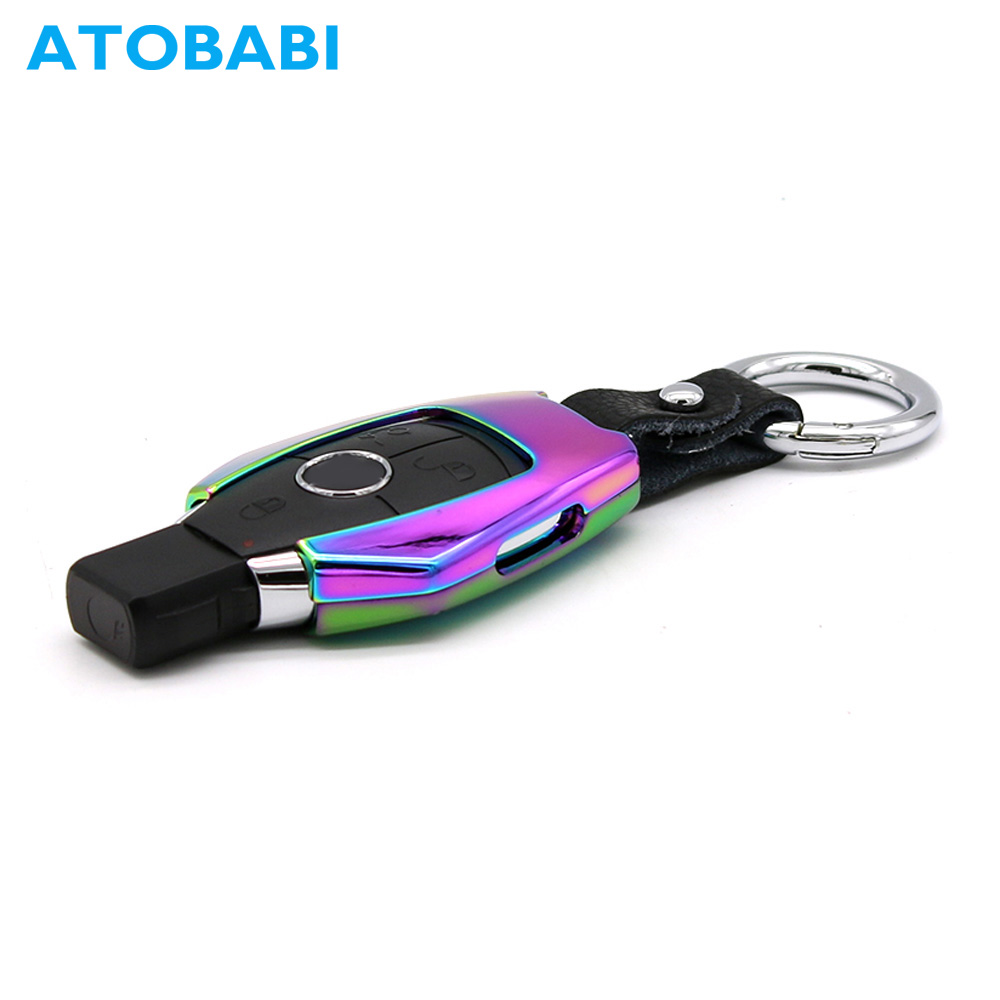 ATOBABI Smart Car Key Cases Zinc Alloy Remote Shell Cover for Mercedes Mercedes-benz A C E S CLASS SLK CL Fits Many Benz Models