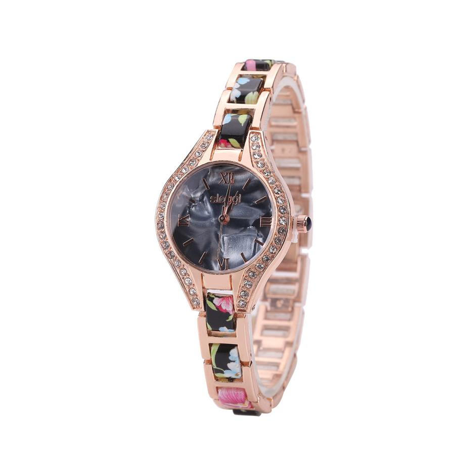 New Fashion Women Watches Round Shell Flower Full Diamond Small Band Clocks Bracelet Analog Quartz Wrist Watch Creative May22 fashion split leather band quartz analog bracelet wrist watch for women black 1 x 377