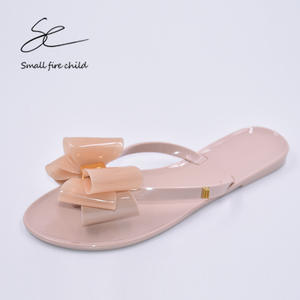 229896e26fbd9 Casual summer toe bow flat beach women flip flops shoes