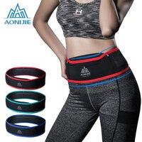 AONIJIE Running Belt Waist Phone Bag Pouch Jogging Belt Race Marathon Cycling Waist Belly Bag Waistbag Gym Sport Accessories