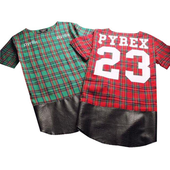 Urban Cut Long Plaid Tee
