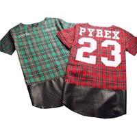 Yan Fermuar Ekose Yüksek Kaliteli Yıldız Bakmak Adam Hip Hop Hiphop Skakeboard Streetwear Yağma Tshirt Tops Tees T-shirt Erkekler Tyga tarzı