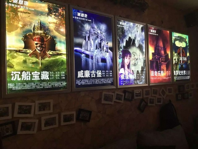 Home Theater Indoor decorate LED Edge Lit Movie Poster