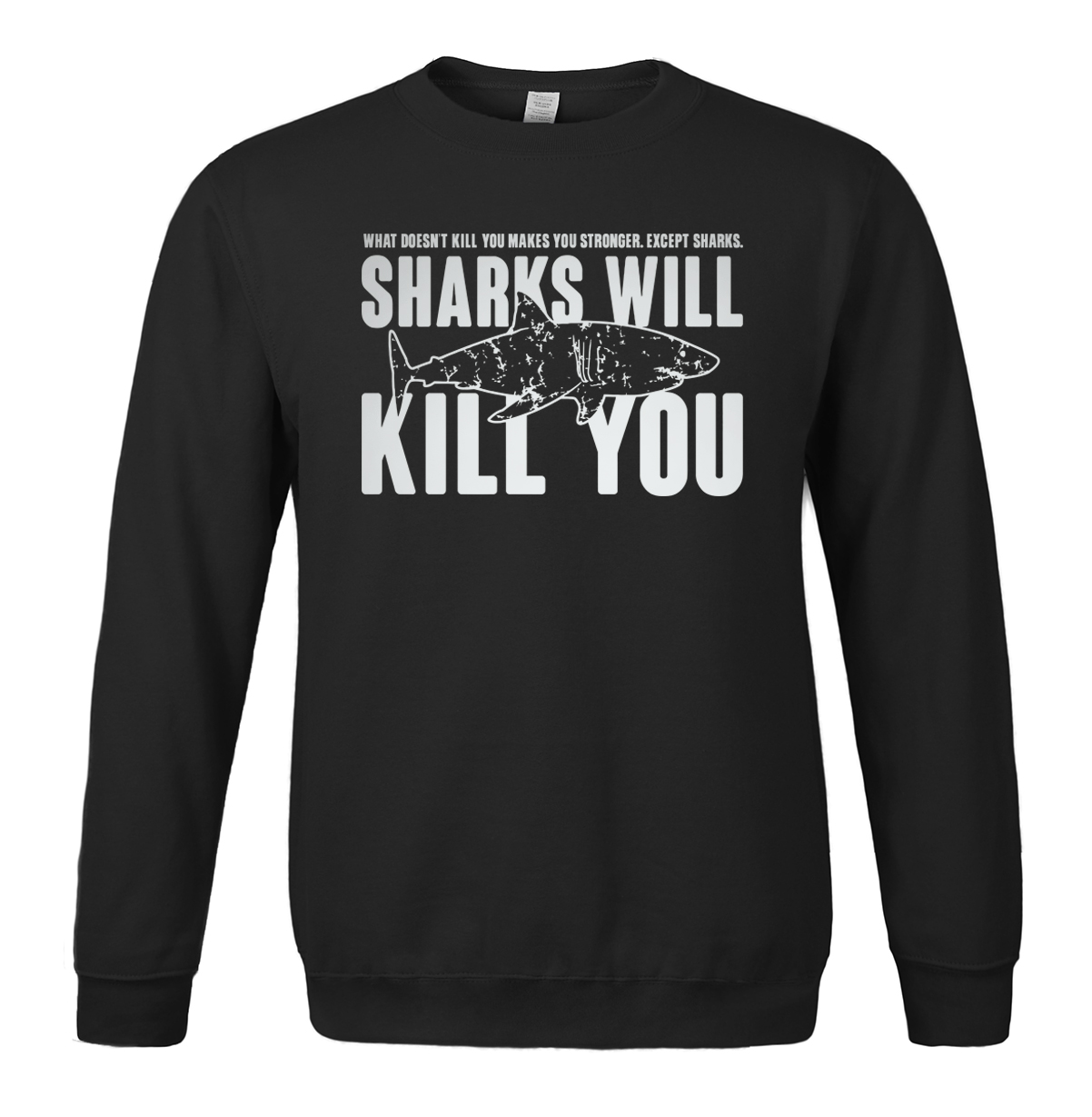 Sharks Will Kill You printed spring winter 2019 men's sportswear fleece casual hoodies men sweatshirt harajuku crossfit hoody