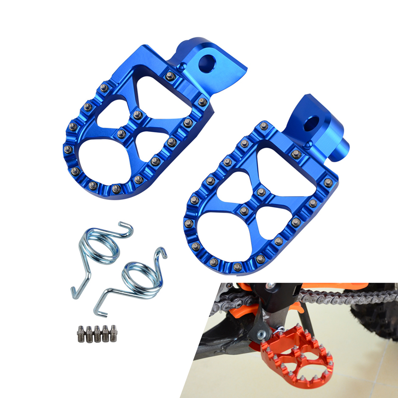 H2CNC Foot Pegs Footrests Footpeg Pins Set For HUSQVARNA FS450 2015 TC65 TX125 17-18 TC85 14-17 TC125 14-15 TC250 14-16 etc