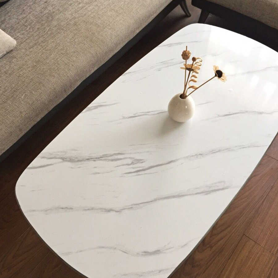 1 M/2 M מודרני סלון ריהוט שולחן עבודה עמיד למים השיש טפט ויניל עצמי דבק נייר מוצק צבע בית תפאורה