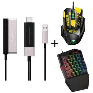 Image 5 - , Convertisseur adaptateur Bluetooth, clavier de jeu, souris de jeu, 4k 60Hz, prise et jeu, PC même écran