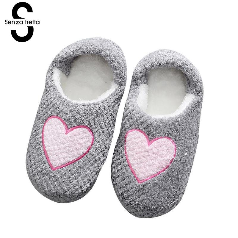 Senza Fretta Women Shoes Fashion Pineapple Lattice Slippers Indoor Warm Wool Cotton Slippers Breathable Soft Bottom Slippers