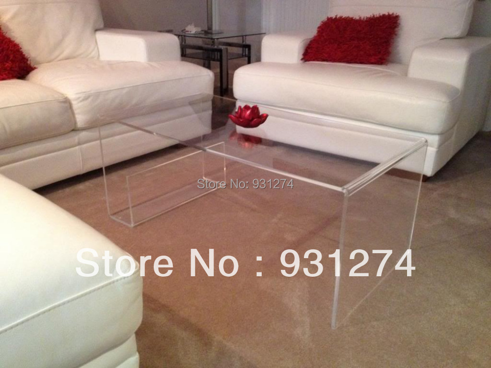 ONE LUX Waterfall Large Clear Acrylic Coffee Tea Table/ Lucite Magazine  Table/Perspex Side Table In Coffee Tables From Furniture On Aliexpress.com  | Alibaba ...