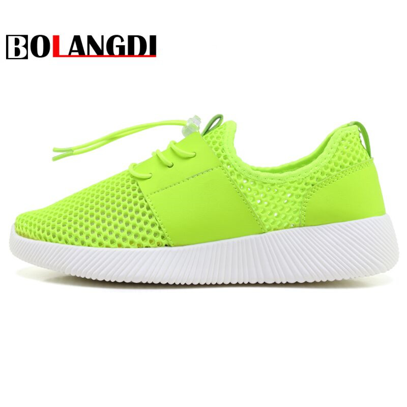 Bolangdi New Summer Running Shoes Women Sneakers Breathable Mesh Sport Shoes Woman Lightweight Outdoor Jogging Athletic Trainers
