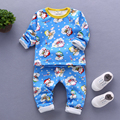 Children's clothing spring and autumn child thermal boys girls child long child underwear set 100% cotton baby