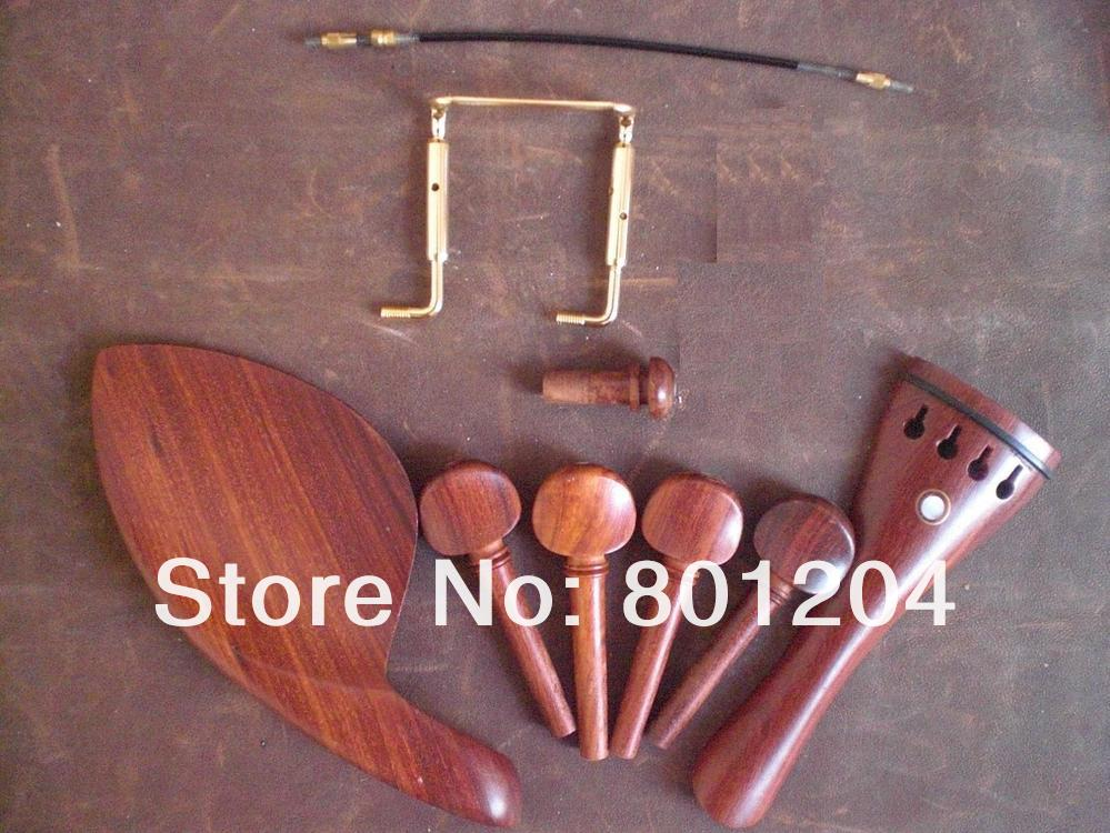 5 Sets ROSEWOOD Violin Fitting with GOLD chin rest screw and Tail Gut5 Sets ROSEWOOD Violin Fitting with GOLD chin rest screw and Tail Gut