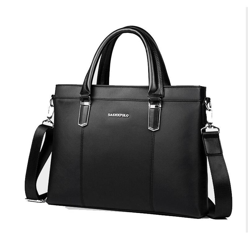 New Brand Men's Leather Briefcase Business Computer Bag Vintage Messenger Bags Men Shoulder Bag Postman Male Handbags