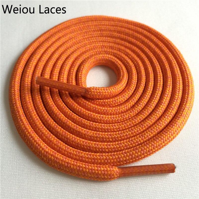 Weiou новые яркие цвета для пеших прогулок, двухцветные шнурки, сменные шнурки для обуви, круглые шнурки для баскетбола 750 - Цвет: 35Orange Yellow Oran