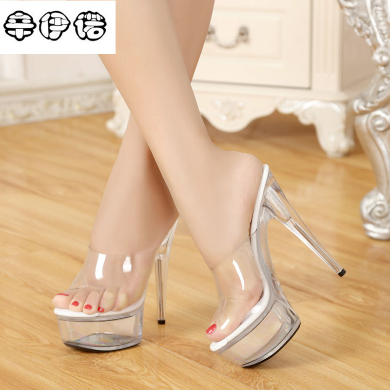 2018 Time-limited Sandals Sapato Pvc Sandal 15cm High Heels Open Toe Kim Kardashian Sandals Transparent Shoes For Stilettos 3443 kim kardashian s marriage