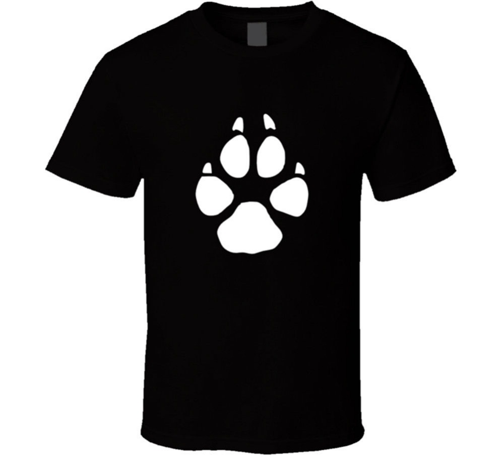 Coyote Tracks Mens Black T-shirt Animal Huntinger Print Size S to 3XL New From US
