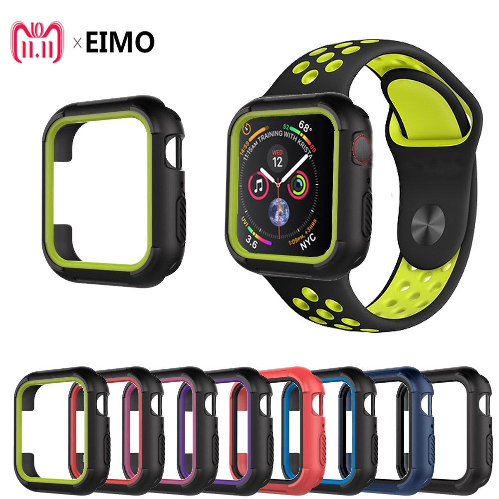 TPU Silicone Protective case For Apple watch band 4 44mm 40mm cover iwatch band series 4 Replacement Protection frame unique protective silicone black frame transparent plastic cover case for iphone 4 4s