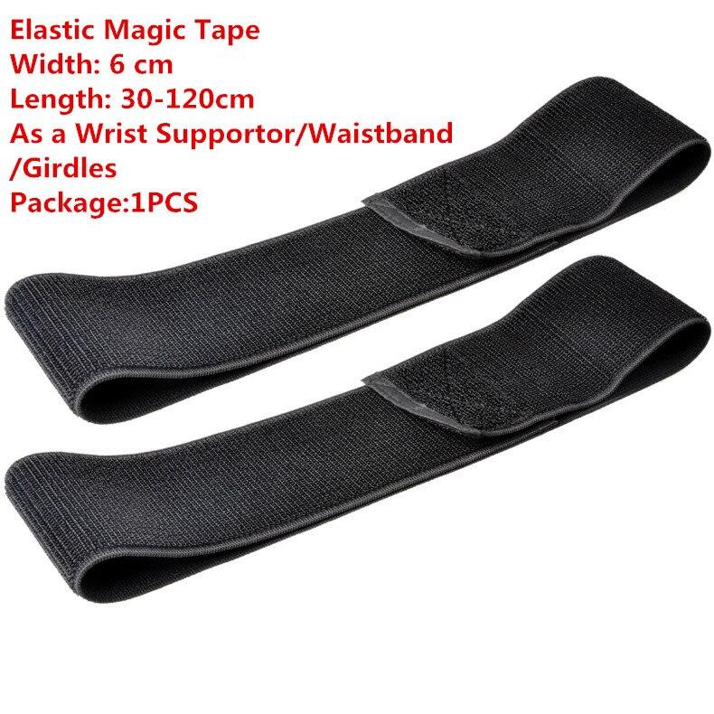 1PCS MT009  Elastic Magic Tape Width 6 cm Length 30-120cm Cable Tie As a Wrist Supportor/Waistband/Girdles Crepe bandage